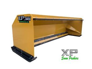 10 Xp36 Cat Yellow Snow Pusher W Pullback Bar Backhoe Loader Local Pick Up