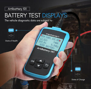 New 12v Car Battery Load Tester Charging System Diagnostic Scan Tool Analyzer