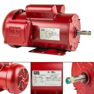 2 Hp Electric Motor 56h Frame 1745 Rpm Single Phase Farm Duty Air Compressor Weg