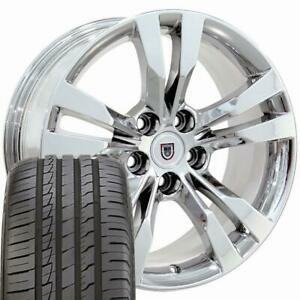 18 Rims Tires Fit Cadillac Cts Style 5x120 Chrome Wheels Ironman Tires 4717