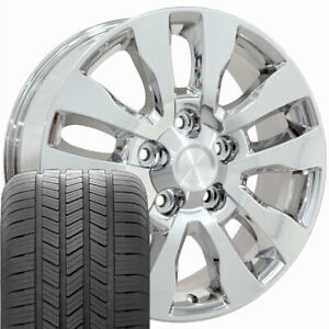 20 Rims Tires Fit Toyota Tundra Chrome Wheels Gy Tires 69533