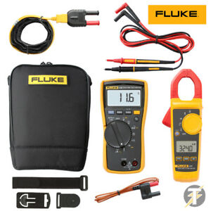 Fluke 116 Multimeter Kit6l With 324 Clamp Meter Plus Leads Thermocouple And Bag