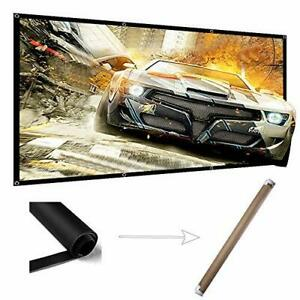 120 Projector Screen Wrinkle Free Indoor Outdoor Portable 4k Projection Screen