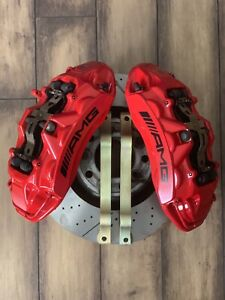 Mercedes Benz W463 G63 Amg Brembo Front Brake Calipers 6 Piston