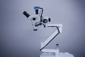 5w Led Dental Ent 10x Operation Microscope With Camera Clip On Dental Chair Unit