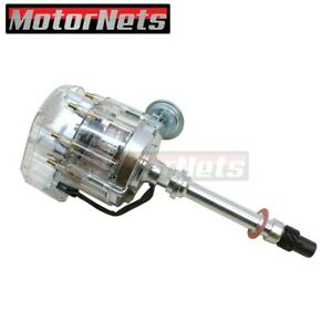 305 307 427 454 Sbc Bbc Chevy V8 Hei Ignition Distributor Hot Rod Clear Top