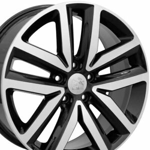 18 Rims Fit Volkswagen Vw Jetta Gti Beetle Tiguan Eos Black Machd 69941 Set