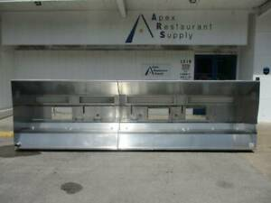 210 17 1 2 Ft Gaylord Self Cleaning Stainless Vent Hood 4250