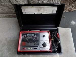 Vintage Mac Tools Et 930 Volts Amps Ohms Tester tested Free Shipping