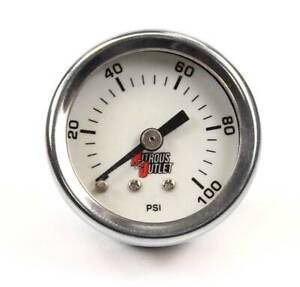 Nitrous Outlet Luminescent Fuel Pressure Gauge 6an Manifold 0 100psi