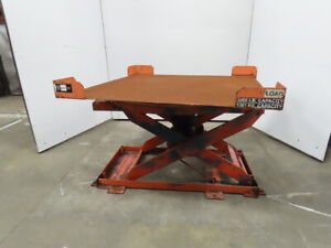 3000lb Self Leveling Lift Table 48 x48 Pallet Positioner 9 1 2 To 30 Height
