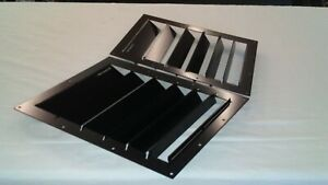 Race Louvers 10x14 Universal Angular Hood Vent Heat Extractor Pair Street Trim
