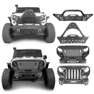 For Wrangler Jeep Jk jku 07 18 Off road Steel Textured Front Bumper Guard Bar