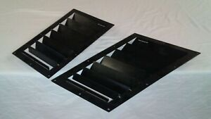 Race Louvers 8x16 Universal Middle Hood Vent Heat Extractor Pair Street Trim