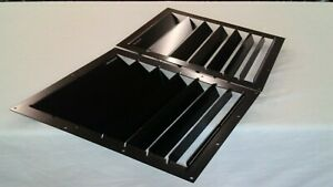 Race Louvers 12x16 Universal Center Hood Vent Heat Extractor Pair Street Trim