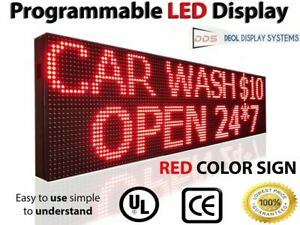 Outdoor Indoor 15 X 88 Red Color Programmable Message Display Led Sign Board