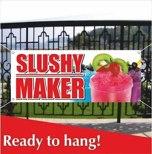 Slushy Maker Advertising Vinyl Banner Mesh Banner Sign Flag Ice Cone Slush