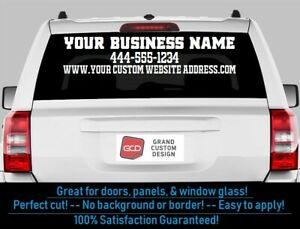 Custom Text Vinyl Decal Business Name Letters Vehicle Window D