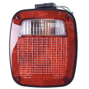 Omix ada Black Left Replacement Tail Light Assembly For 91 97 Jeep Wrangler Yj