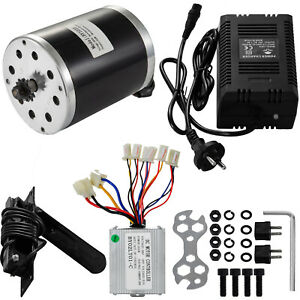 500 W 36v Dc Electric Motor Kit speed Controller pedal charger Atv Scooter