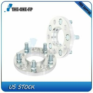 2 Pcs 15mm 5x4 5 Wheel Spacers Silver 70 5 Mm 14x1 5 For Ford Mustang