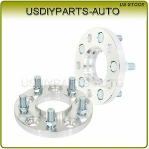 2 Pcs 15mm Thick Wheel Spacers Silver 5x4 5 14x1 5 Studs For Ford Mustang