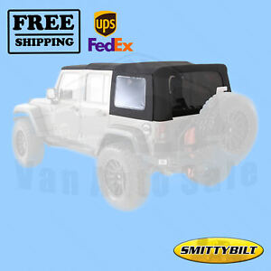Soft Top Premium Black Diamond Canvas Smittybilt For Jeep Wrangler 2007 2009