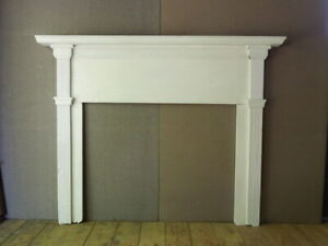 American 19th Hand Made Fireplace Mantle Overall 54 X 68