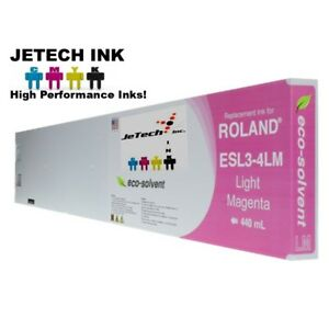Roland Esl3 4 Eco solvent Max Compatible 440ml Ink Cartridge Light Magenta