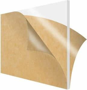 Simbalux Acrylic Sheet Clear 12 x12 1 2 Thick 13mm Plexiglass Easy To Cut