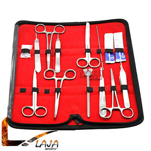 32 Pcs Surgical Instruments Kit Stainless Steel With Velvet Pouch Sk 751
