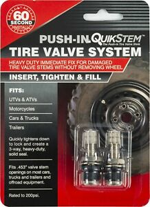 Quikstem Push in Replacement Tire Valve Stem Install Without Breaking Be
