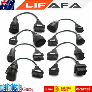 8x Set Obd2 Truck Cables For Autocom Cdp Pro Diagnostic Interface Scanner Lf
