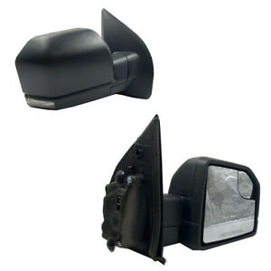 Passenger Side For 15 18 Ford F150 Power Heated Side Led Turn Signal Viewmirror