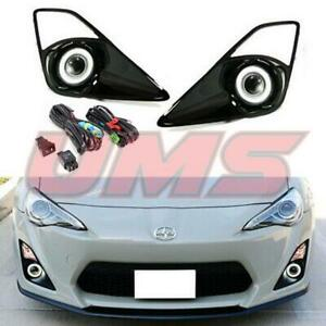 For 12 16 Scion Frs gt86 Clear Halo Projector Fog Lights Driving Lamps switch