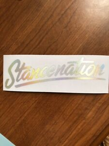 Stancenation Decal Sticker Die Cut Oil Slick Neo Chrome