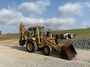 Ford 555a Backhoe 4x4 Xl Boom