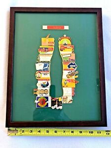 Coca Cola Olympic Games Pin of the Day Atlanta 1996 Framed-Shape of Coke Bottle