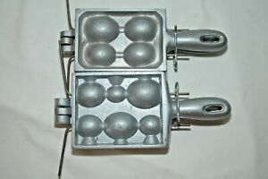 TWO EGG SINKER MOLDS 5678 OZ AND 123568 OZ