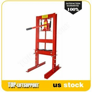 6 Ton H frame Shop Press Hydraulic Jack Stand Plates Equipment Bench Top Mount