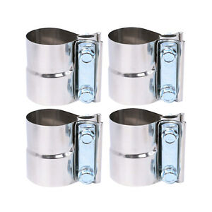 4x 3 Stainless Exhaust Clamp Step Clamps Lap Joint For Catback Muffler Downpipe