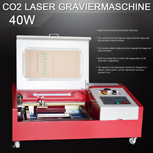 Co2 Usb 40w Laser Engraving Cutting Machine 4 Rounds 300 200mm Laser Cutter