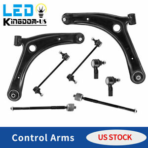 8pc Front Control Arm Ball Joint Suspension Kit For 2008 2013 Lancer Outlander