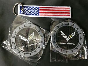 Hey Kaulor 2 Pcs 3 Inch Vehicle Auto Cup Holder Insert Coaster For Corvette