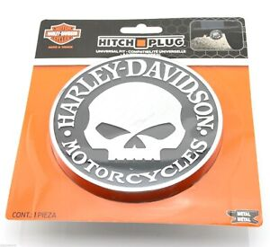 Harley Davidson Willie G Skull Trailer Hitch Plug Cover Universal Receiver