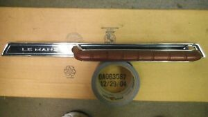 1965 65 Pontiac Lemans Dash Grab Bar And Plaque Mint Used Red Handle