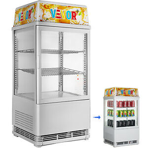 2cu ft commercial Cooler Display Refrigerator Countertop Drink Bakery Cafe Food