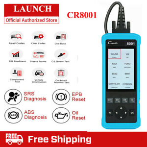 Launch Cr8001 Obd2 Diagnostic Tool Obdii Code Reader Auto Scanner Engine Abs Srs