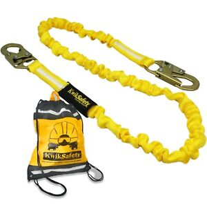 Kwiksafety Rattler 6 Ansi 1 Leg Fall Protection Shock Absorbing Safety Lanyard