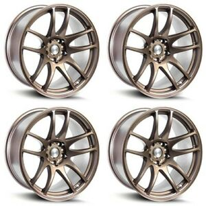 4 18 Staggered Esr Sr08 18x9 5 18x10 5 5x114 3 22 Matte Bronze